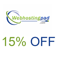 Save 15% hosting coupon at WebHostingPad.com