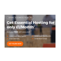 Unlimited hosting at Uk2 only only £1/Month
