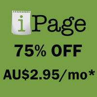 iPage Australia  coupon : Save 75% hosting coupon and free domain at iPage for Australia area