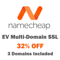 32% OFF Comodo EV Multi-Domain SSL at NameCheap !
