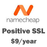 SSL certificate at Namecheap just only $9/year