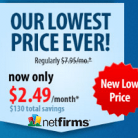 Unlimited hosting at Netfirms only $2.49/month