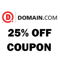 Domain.com May 2017 coupon : 18% off all orders