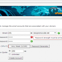 How to add an e-mail account under your own domain name at cPanel X hosting !