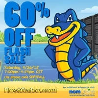 60% OFF NEW Hosting + $4.99 on Select Domain coupon at HostGator.com