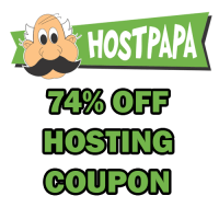 HostPapa coupon codes 74% off plus free domain name