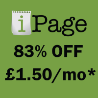 iPage Uk coupon : 83% OFF iPage hosting coupon plan for UK area !