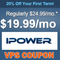 20% off first term on all VPS plans at iPower.com