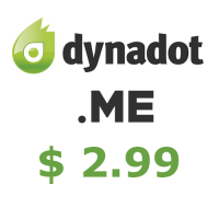 .Me domain coupon Dynadot only $2.99