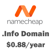.Info domain at NameCheap just only $0.88 + free Private whois