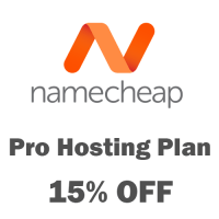 Namecheap hosting coupon December 2018 : 15% OFF Professional Hosting Plan