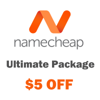 Namecheap hosting coupon : $5 OFF on Ultimate Hosting Package