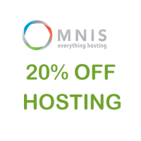 20% OFF hosting coupon Unlimited Hosting at Omnis.com