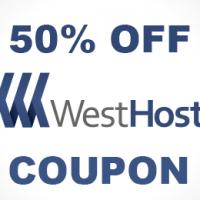 50% OFF WordPress hosing all plans at Westhost.com