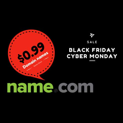 Black Friday & Cyber Monday 2017 : Domain name from $0 99