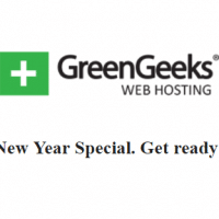 GreenGeeks New Year Coupon: Unlimited hosting plus free domain name only $2.95/mo