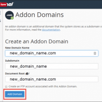 What is Addon Domains? Illustrated for using Addon Domains