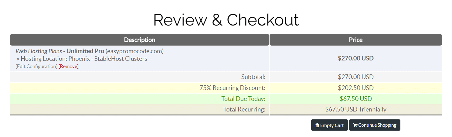 75% off stablehost coupon