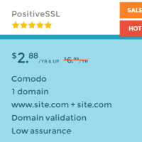 PositiveSSL only $ 2.88 per year at SSLS.com