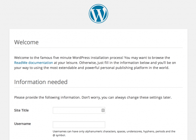 wordpress installed on vult r vps