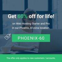 Save 60% off lifetime at StableHost Phoenix location