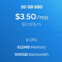 Vultr launched a new package with 512MB Ram only $ 3.5
