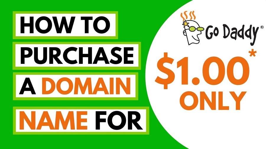 GoDaddy domain for 1 dollar